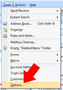 Step 1 - select 'tools' then 'options' from the top menu