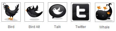 Black Twitter icons