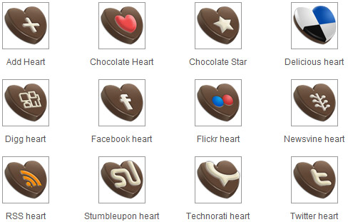 chocolate social media icons