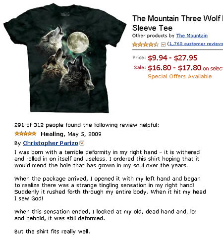 Spoof Amazon t-shirt review