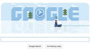 The Frank Zamboni Google doodle. Photograph: Google